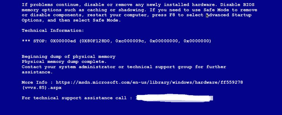 Malware based fake BSOD
