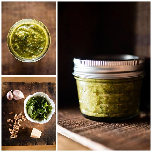 Product photography is one of my favorites! #productphotography #smallbusiness #smallbusinessowner #bestfootforward #pesto #homemade #flatlay #yummy #lovemyjob #wichitaproductphotography #wichita