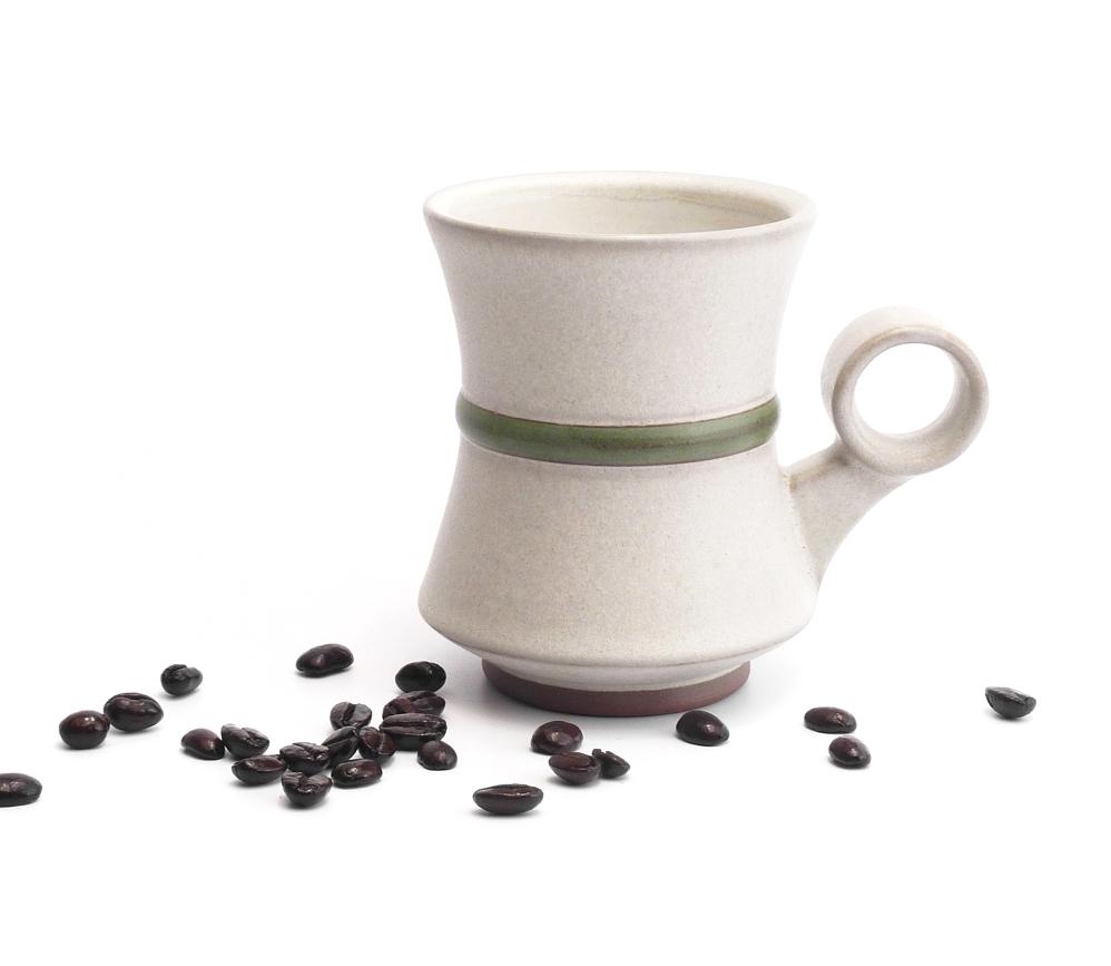 10 oz. green waist mug