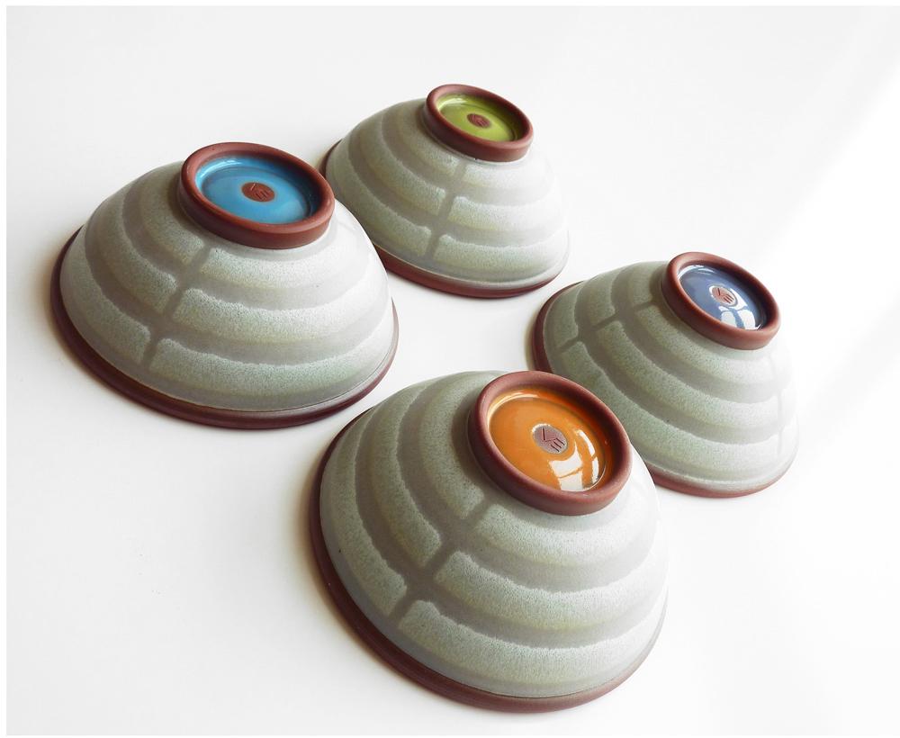 Broken stripe bowls