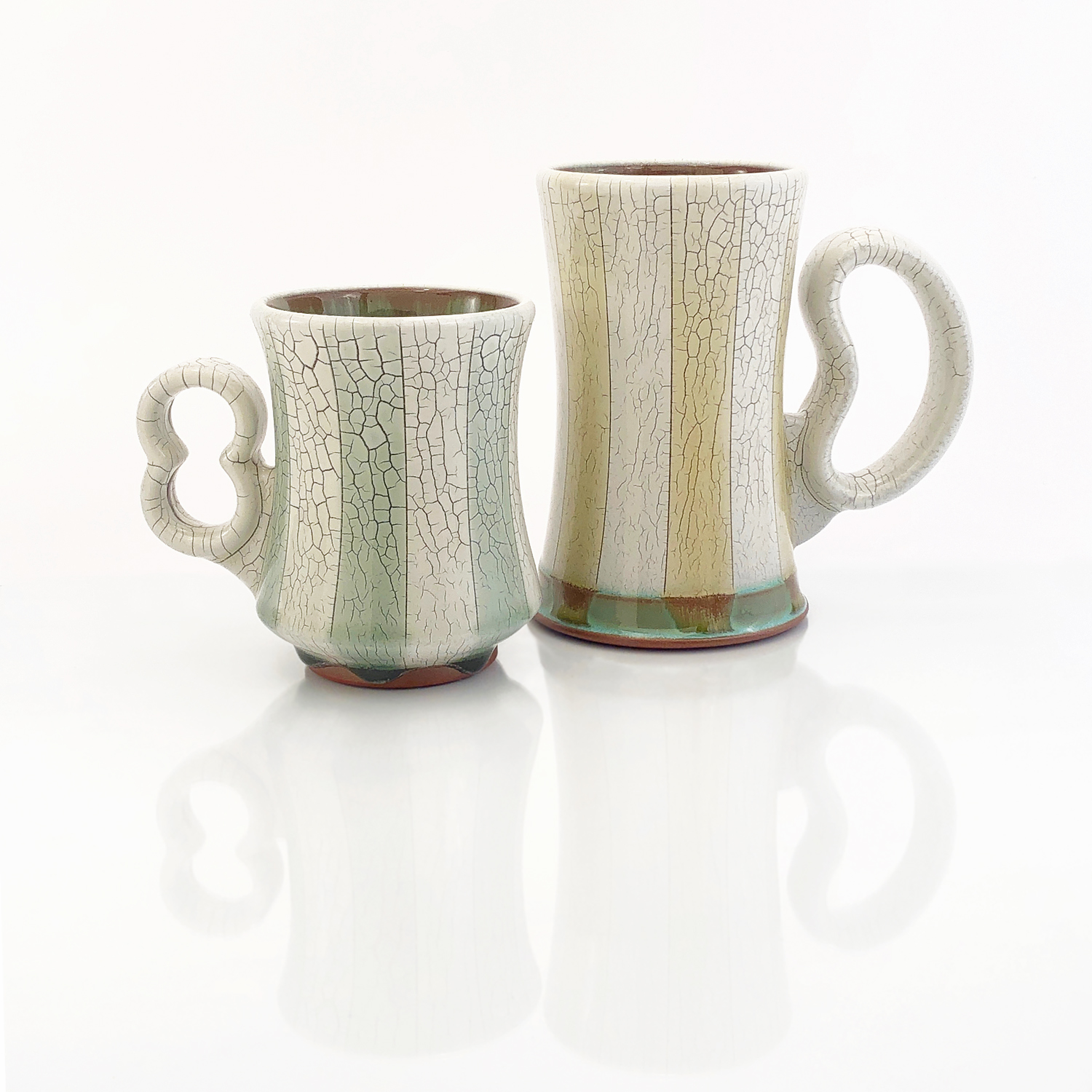 Striped Crackle Mug & Stein