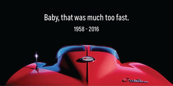 Chevrolet's tribute ad to Prince shortly following his death.