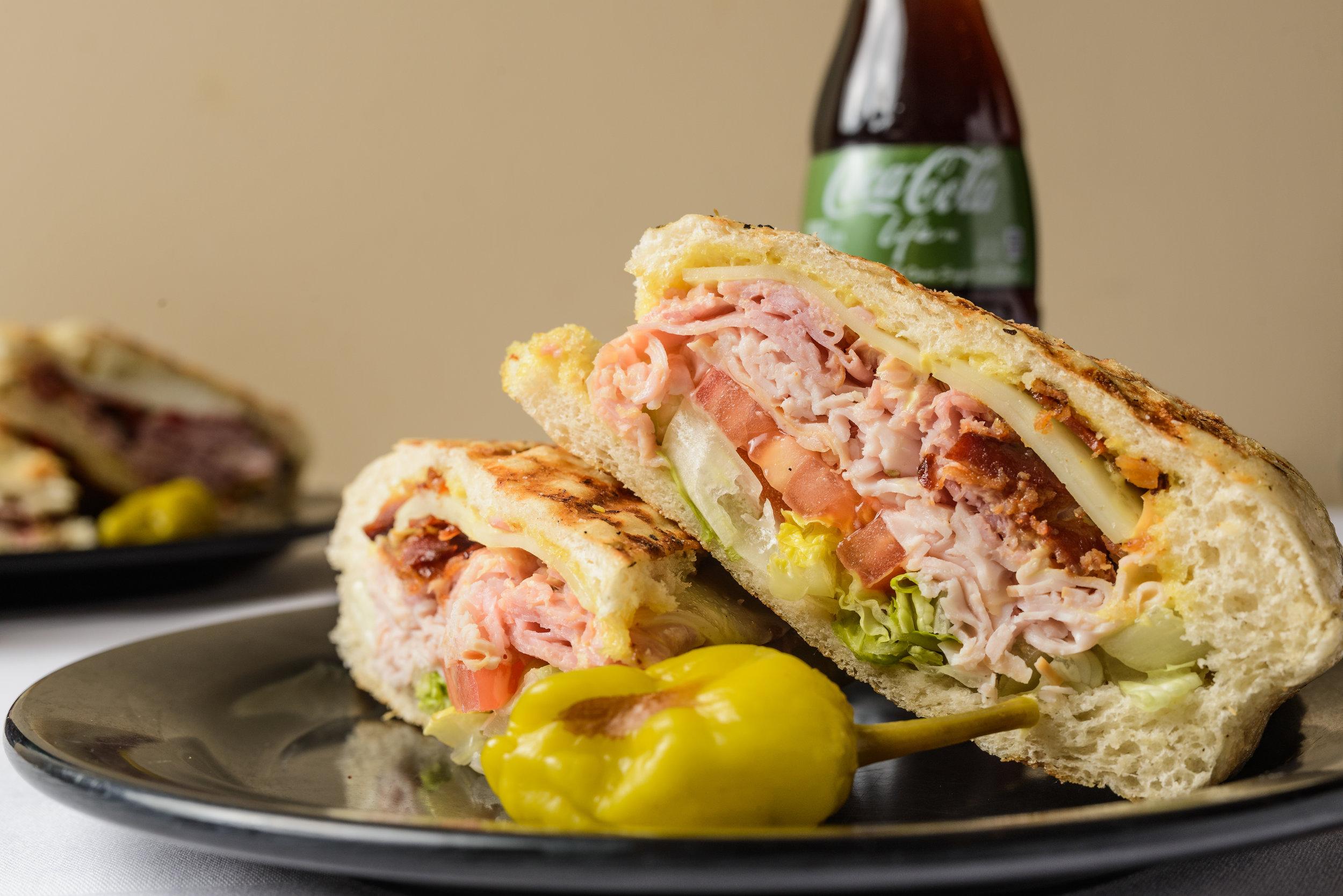 #5 - $8.50 - The Club – Turkey, ham, bacon, provolone, lettuce, tomato, mayo and honey mustard