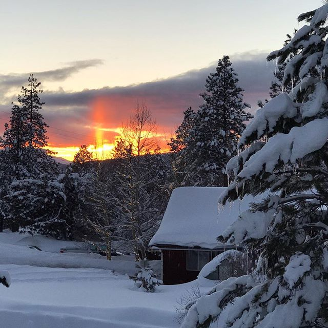 #sunset in #Truckee #snowpocalypse #tahoe