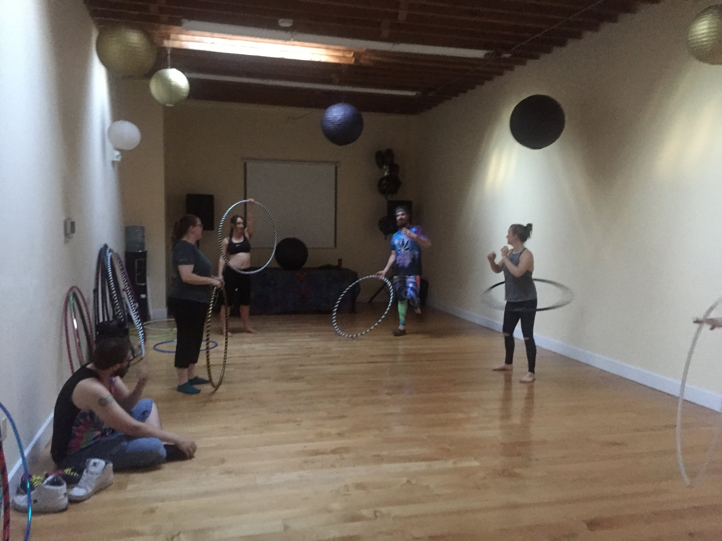 The Center For Mindful Use is a Beautiful Space for Hoop Dancing!