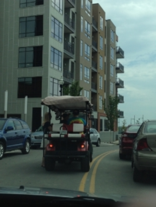 With few transit options, restaurant and bars in Nashville shuttle patrons home in golf carts—that are permitted to drive on the road.