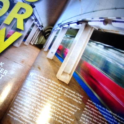 Chicago Magazine  article about the future of Transit in Chicago.