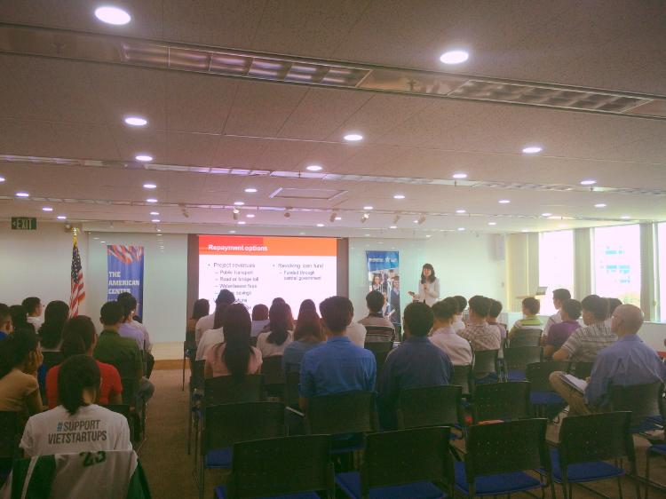 Speaking at the U.S. Consulate in Ho Chi Minh City, Vietnam about public private partnerships to fund infrastructure.