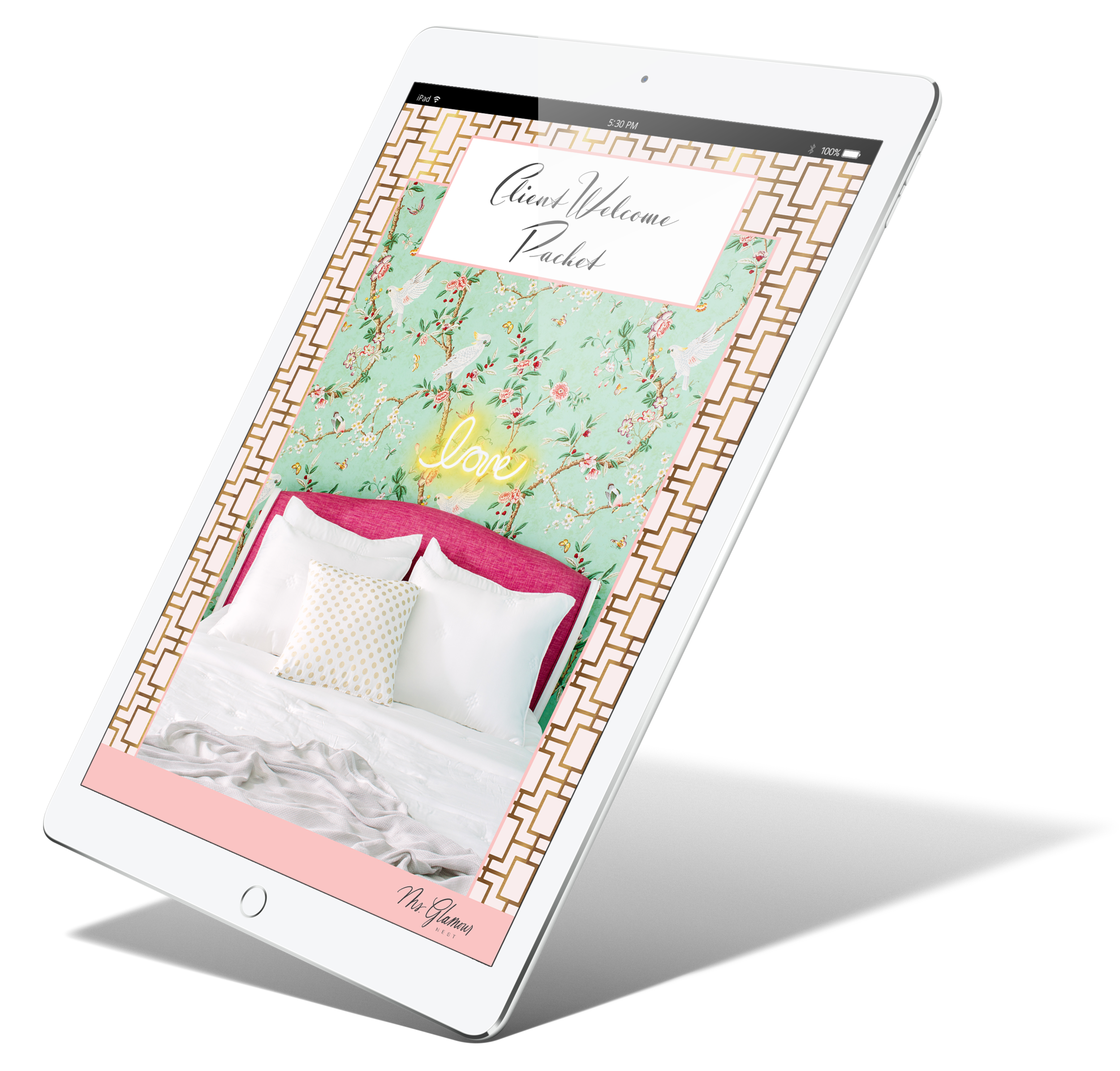 Client welcome packet templates for interior designers | Ms. Glamour Nest