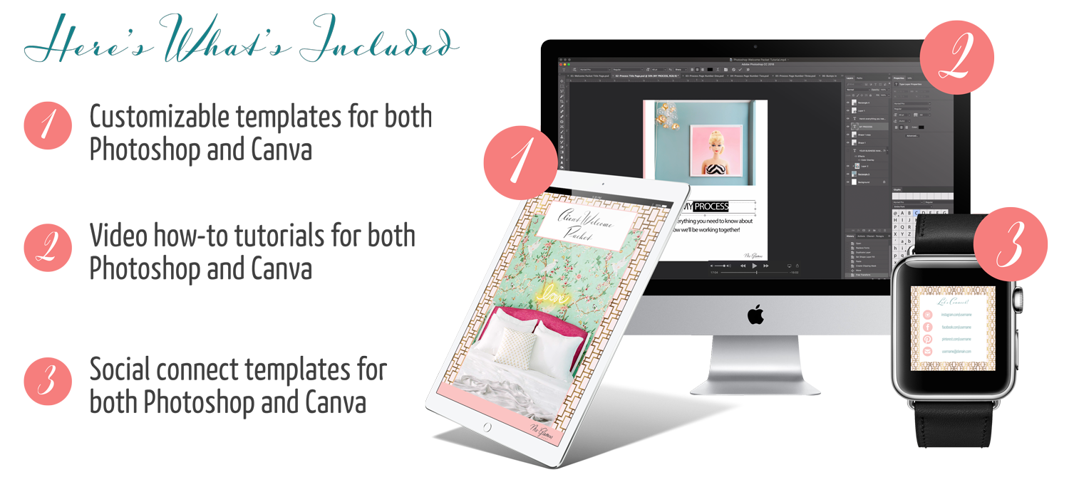 Interiors design client welcome packet template kit | Ms. Glamour Nest interior design business coaching
