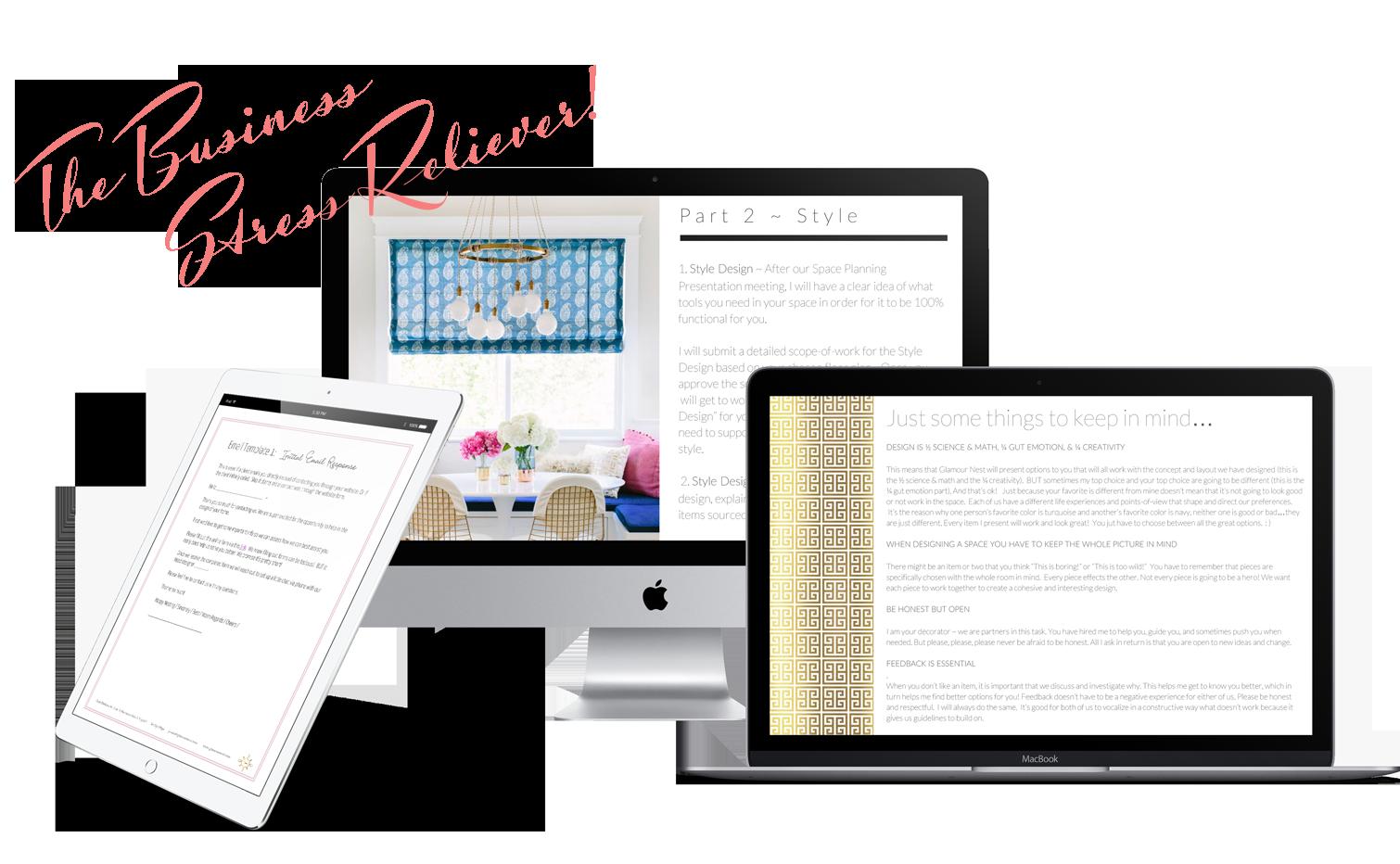 Interior design business templates | Ms. Glamour Nest Interior Design Business Coaching and Consulting
