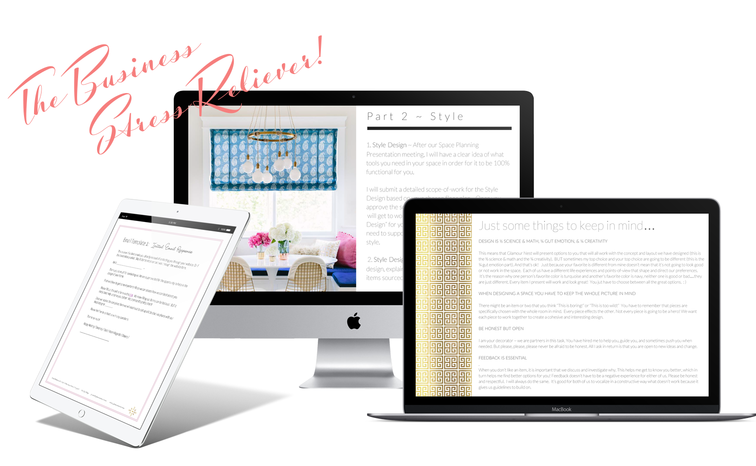 Interior design business systems templates | Ms. Glamour Nest Interior Design Business Coaching
