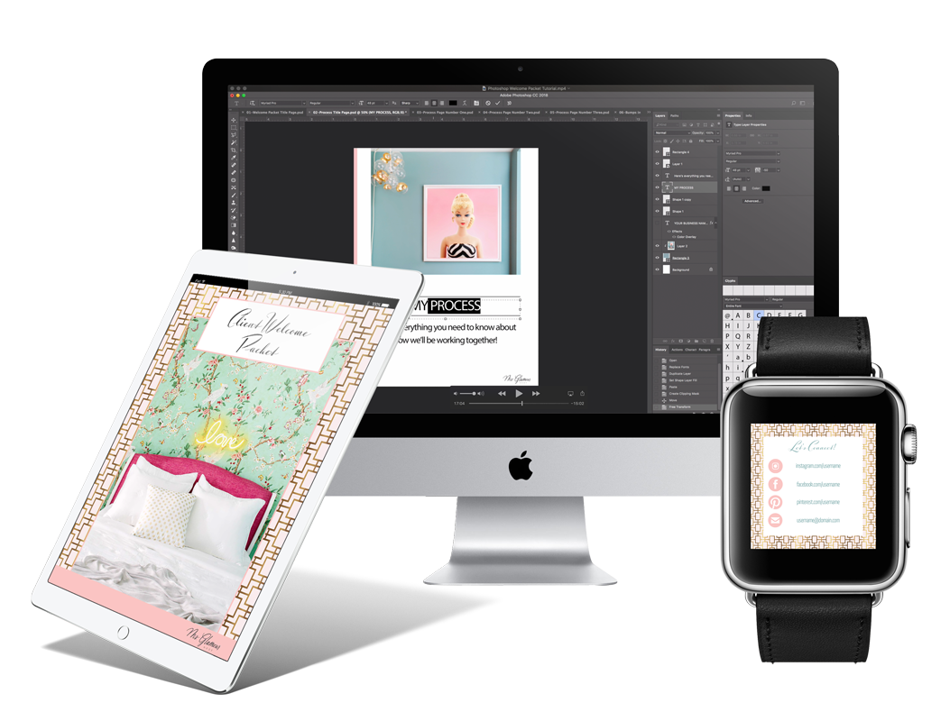 Interior Design Business Client Welcome Packet | Ms. Glamour Nest