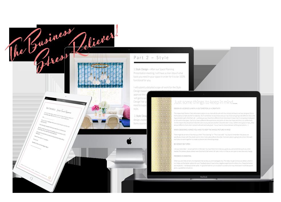 Interior design business templates bundle | Ms. Glamour Nest