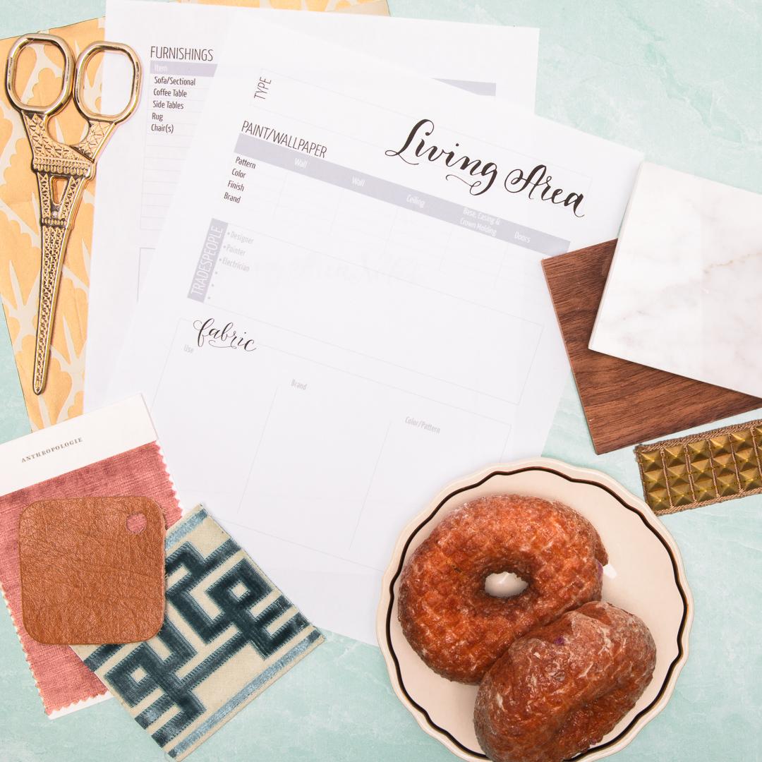 Home Decor Archive Sheets | Interior Design Business Templates