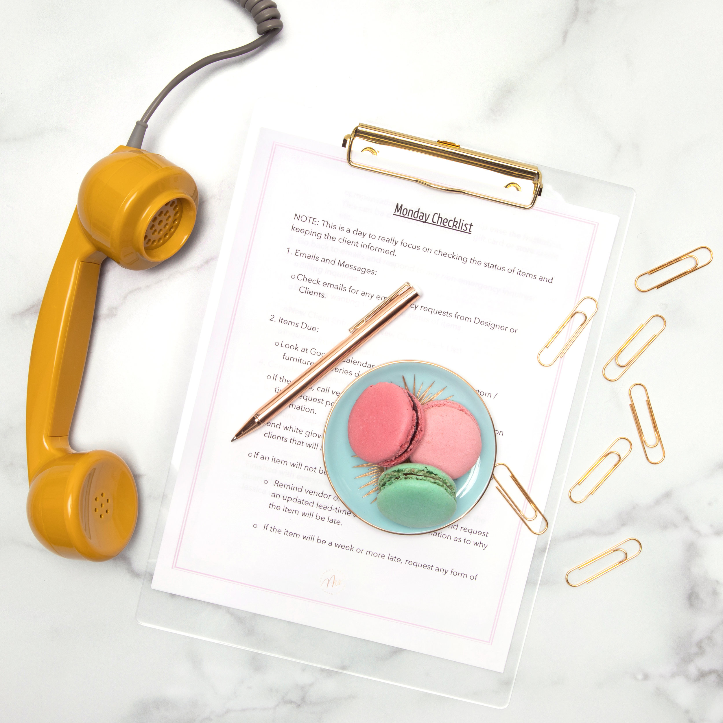 Ms. Glamour Nest Administrative Assistant Checklist