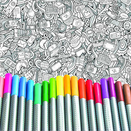 COLOR! COLOR! COLOR! - Coloring is not just for kids!  We bring the calming effects of a custom large format coloring wall to your event. Your guests can put their own