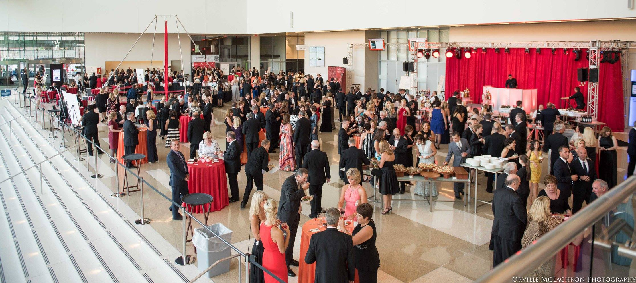 Guests filled the atrium at the Global Center for Health Innovation on June 11 for The Cleveland AHA's Annual Heart and Stroke Ball