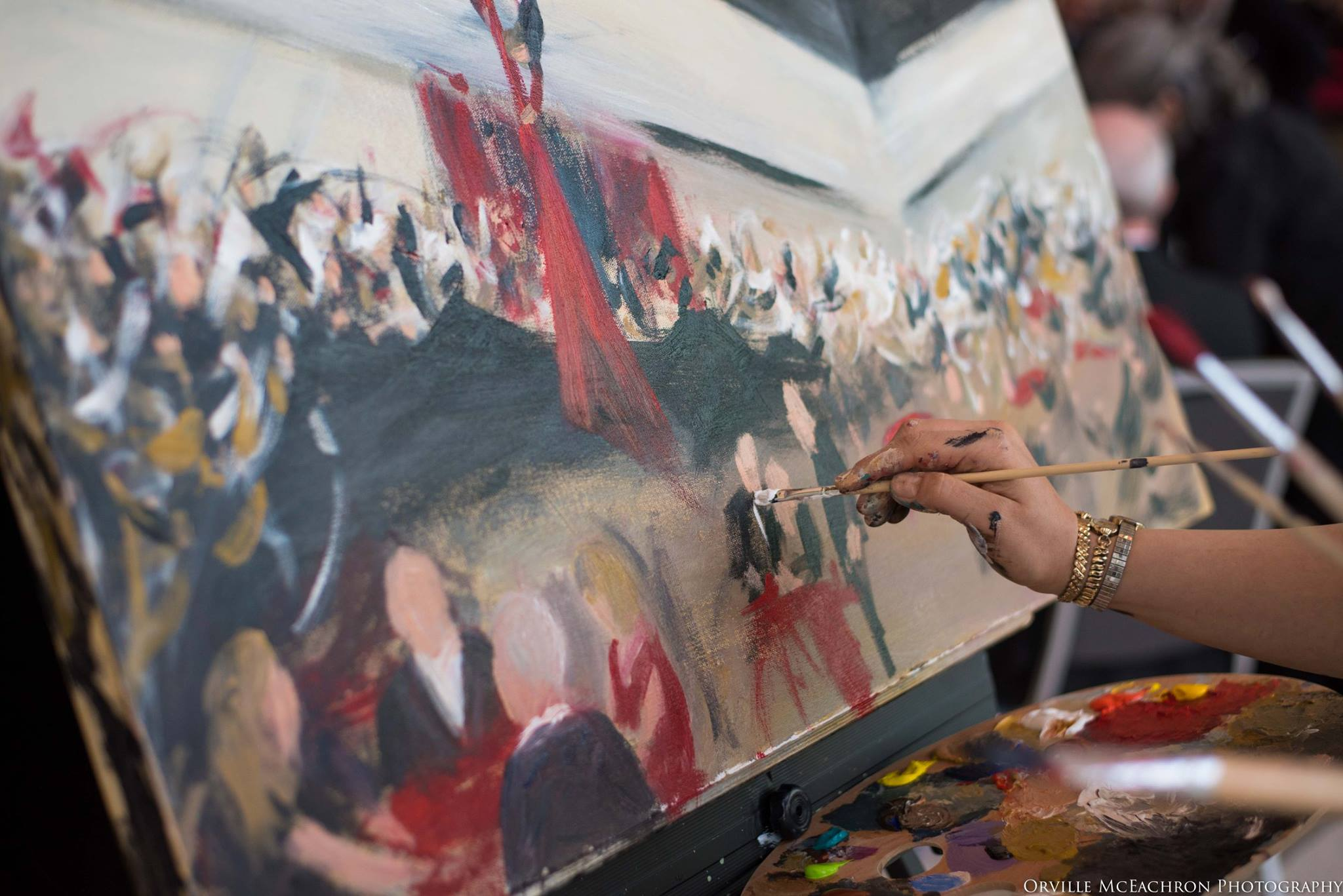 Live event painting in action