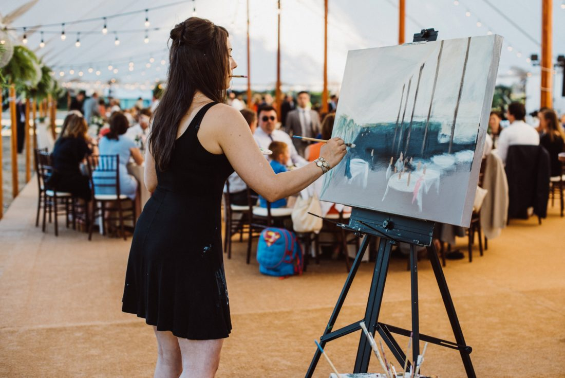 Thanks Astor + Olive Photography for getting this action shot!I love the perspective and how you can see what I see while I'm painting it.