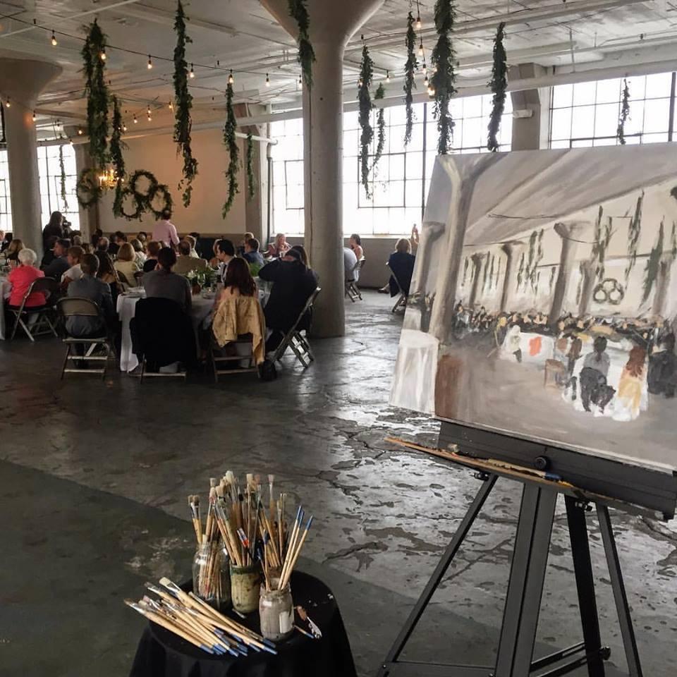 live wedding painting - lake erie building 1.jpg