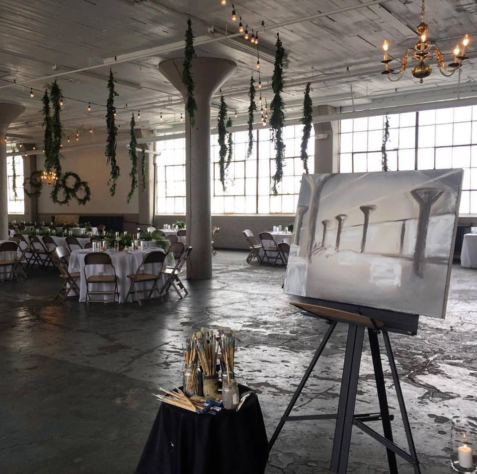 live wedding painting - lake erie building 2.jpg