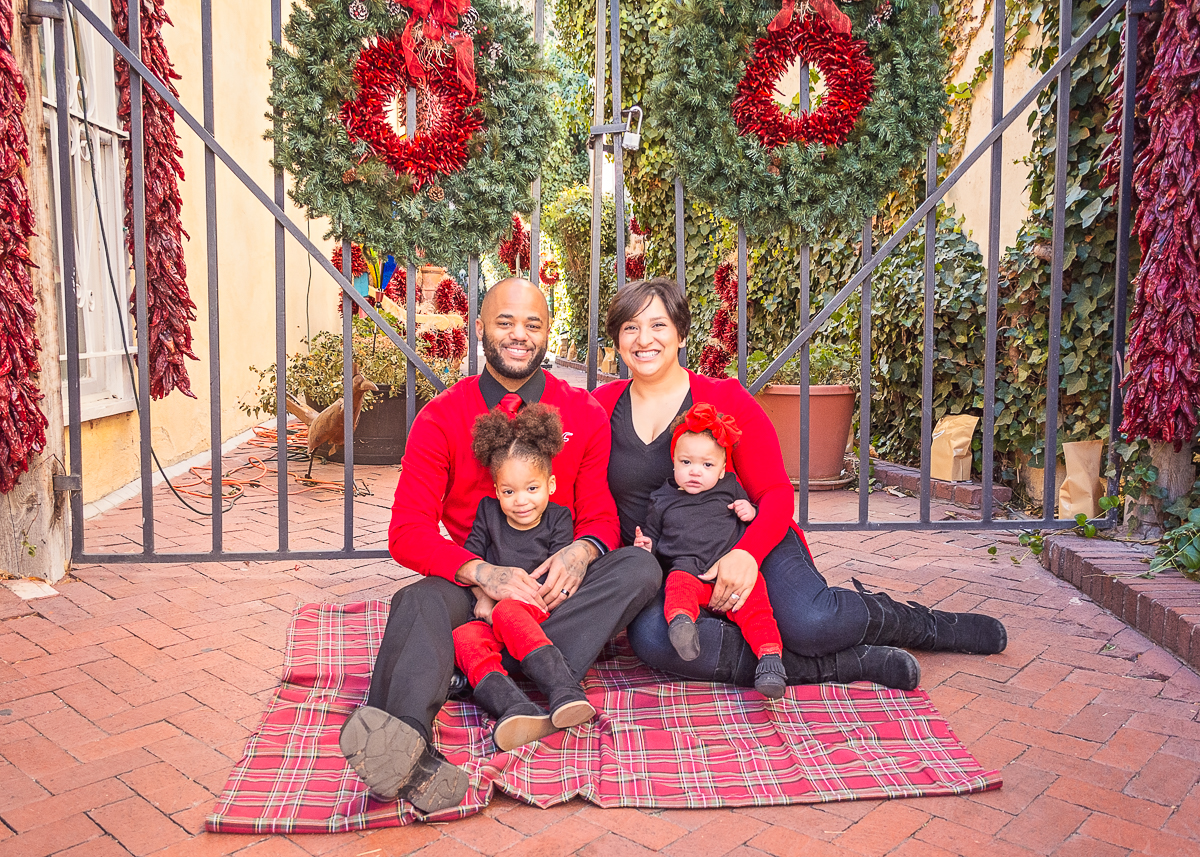 © Nicole Bradshaw Photography 2016; An Old Town Christmas in Albuquerque, New Mexico- The Bennett Family; Albuquerque Family Photographer, Santa Fe Family Photographer, Rio Rancho Family Photographer, Los Lunas Family Photographer, Belen Family Photographer, Socorro Family Photographer
