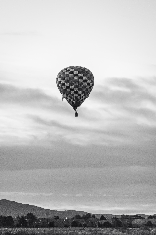 Black and White Balloon Photo, Albuquerque Photographer, Albuquerque International Balloon Fiesta, Hot Air Balloon