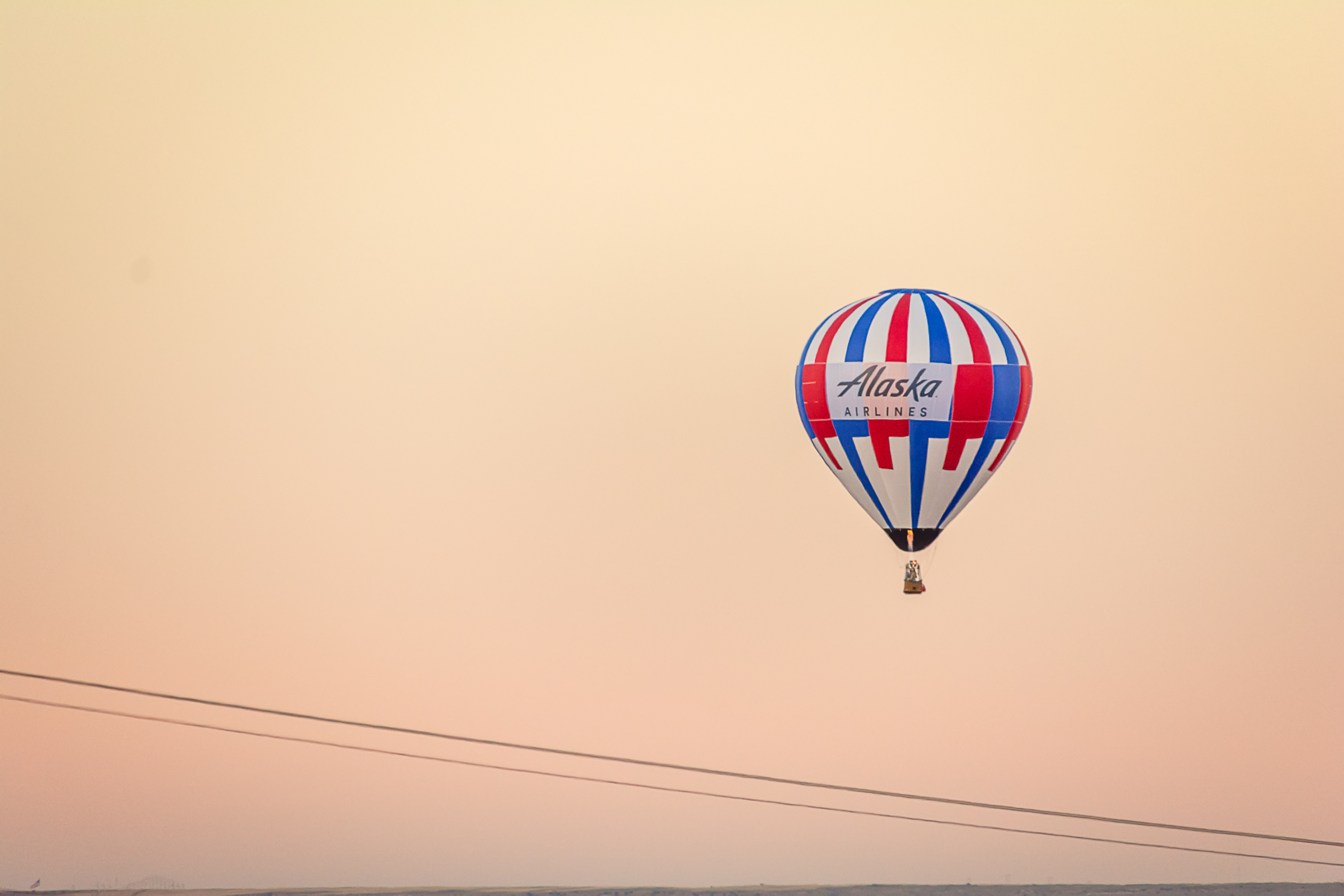 Hot Air Balloon and Power Lines, Hot Air Balloon, Albuquerque Photographer
