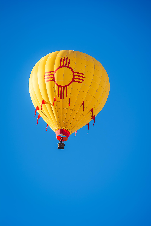 Zia Symbol, New Mexico Hot Air Balloon, Albuquerque Photographer, Albuquerque International Balloon Fiesta