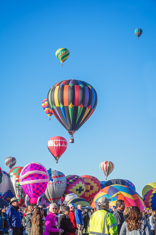 Rainbow Hot Air Balloon, Rainbow Balloon, Albuquerque Photographer, Albuquerque International Balloon Fiesta