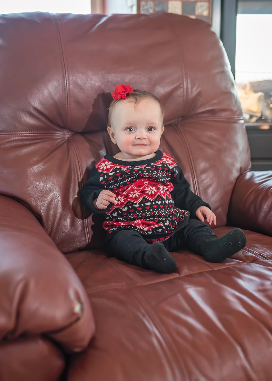 Baby Portrait, Los Lunas Photographer, LDS Family Portraits, In-Home Portrait Session, Christmas Portrait