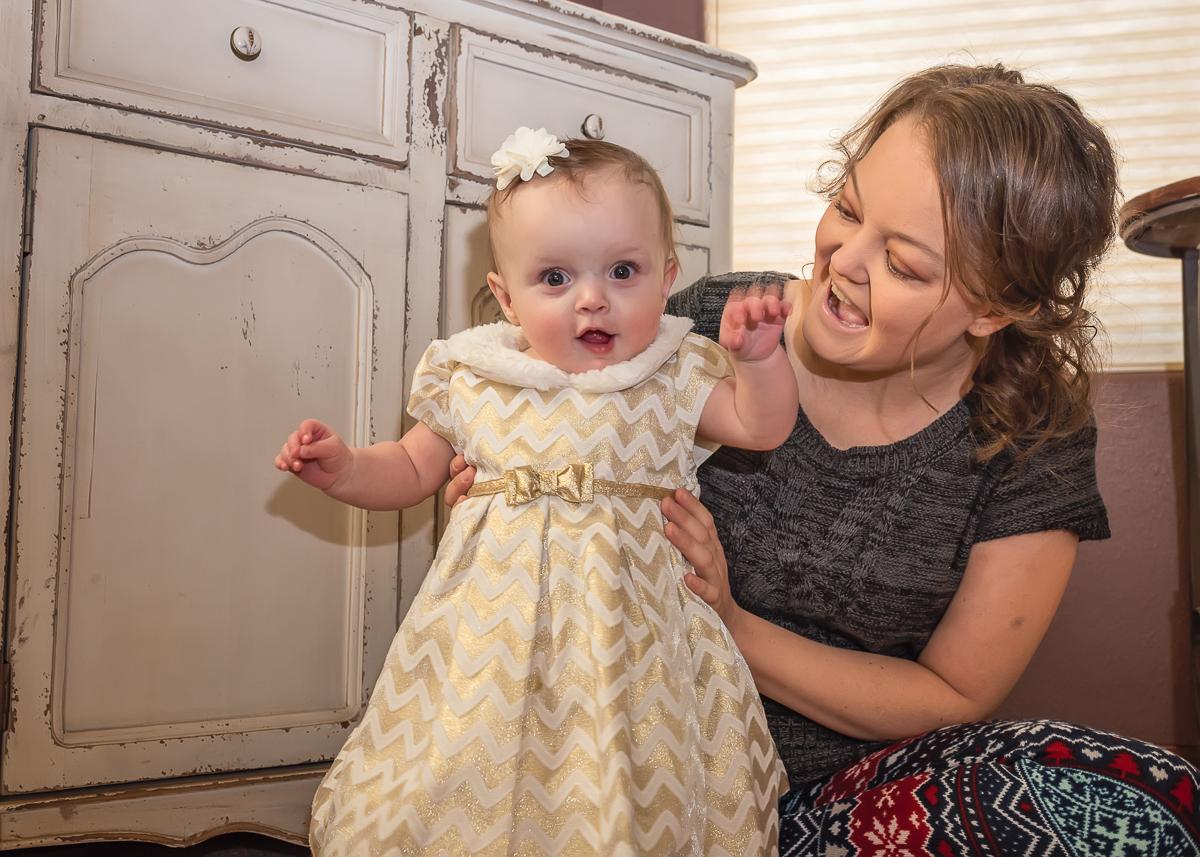 Mother-Daughter Portrait, Christmas Portrait, Baby Portrait, LDS Family Photographer