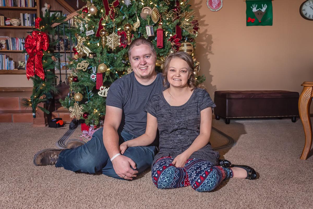 Christmas Couple's Photo, In-Home Portrait Session, Los Lunas Photographer, LDS Photographer