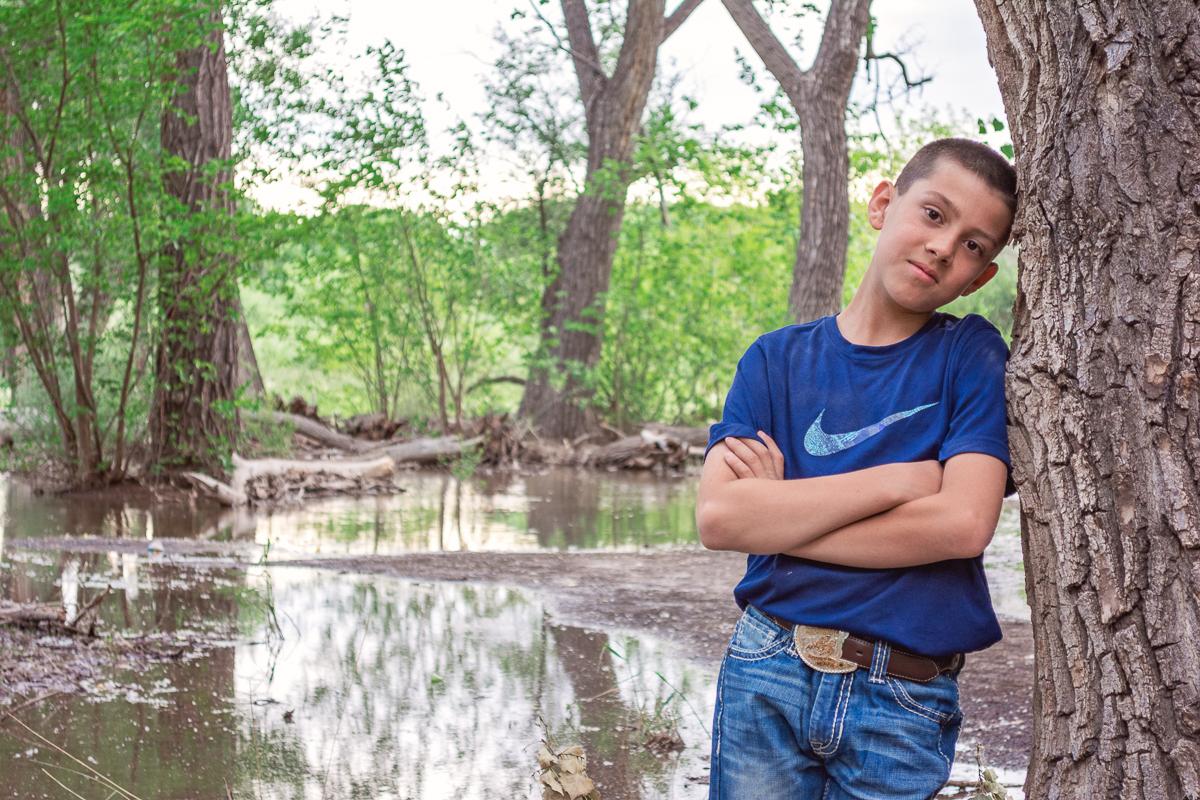 Pre-Teen Boy Portrait, Outdoor Children's Portrait, Annual Portrait, Albuquerque Photographer