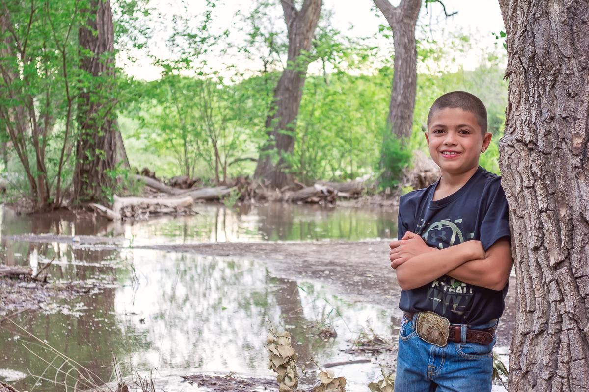 Outdoor Children's Portrait, Los Lunas River Park, Albuquerque Photographer, Boy's Portrait, Family Photos, Annual Portraits
