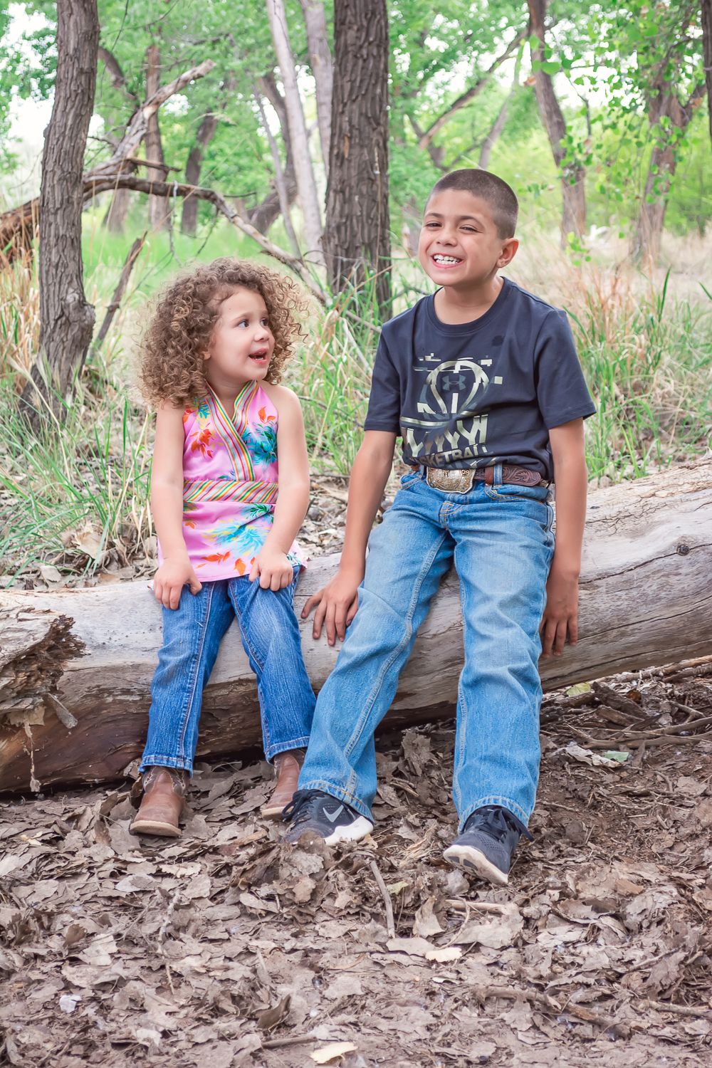 Brother and Sister Portrait, Childhood Photo, Outdoor Portrait Session, Sibling Portrait, Kid Photo, Group Photo, Albuquerque Photographer