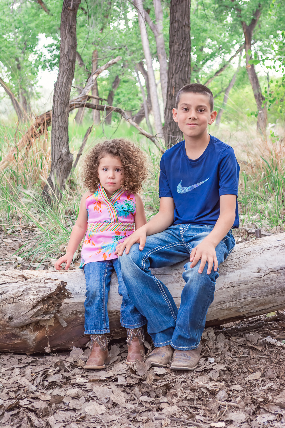 Sibling Portrait, Childhood Friendship, Cottonwood Forest, Fall Family Photos, Outdoor Family Portraits, Albuquerque Photographer