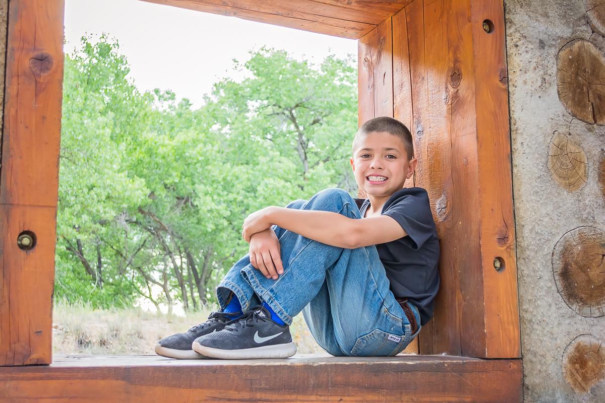 Boy Portrait, Boy Photo, Outdoor Portrait, Cottonwood Forest, Annual Family Portraits