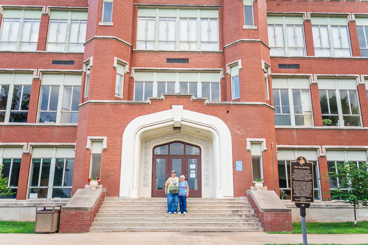 Red Brick Building, Historical Building, Northwestern Oklahoma University, Mother-Daughter Portrait, Family History, Albuquerque Family Photographer, Albuquerque Wedding Photographer