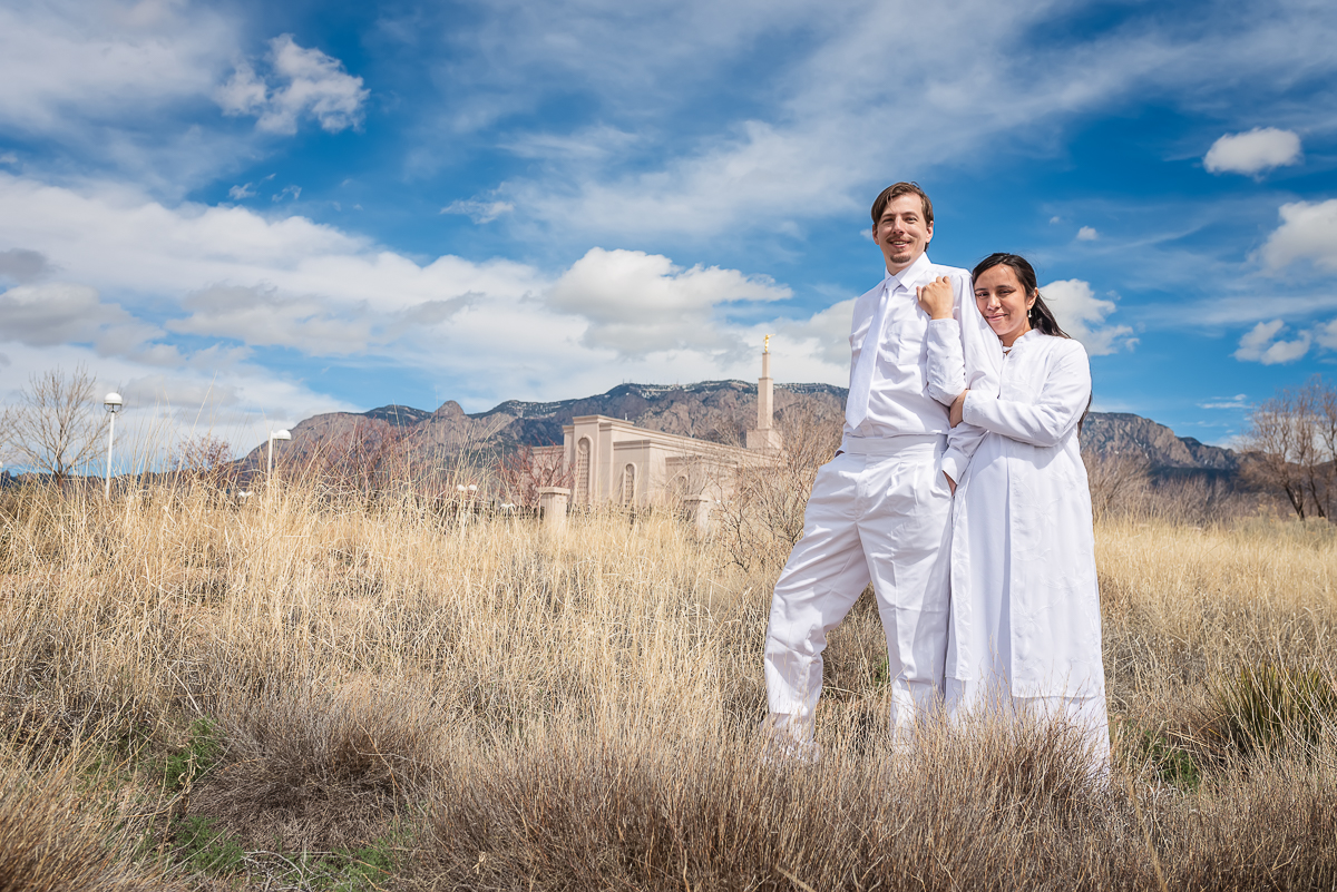 © Nicole Bradshaw Photography 2019; Adam and Milly Little; Albuquerque LDS Temple, LDS Photographer, Albuquerque Photographer, Rio Rancho Photographer, Los Lunas Photographer, Santa Fe Photographer, Socorro Photographer, Belen Photographer, New Mexico Photographer, New Mexico LDS Photographer