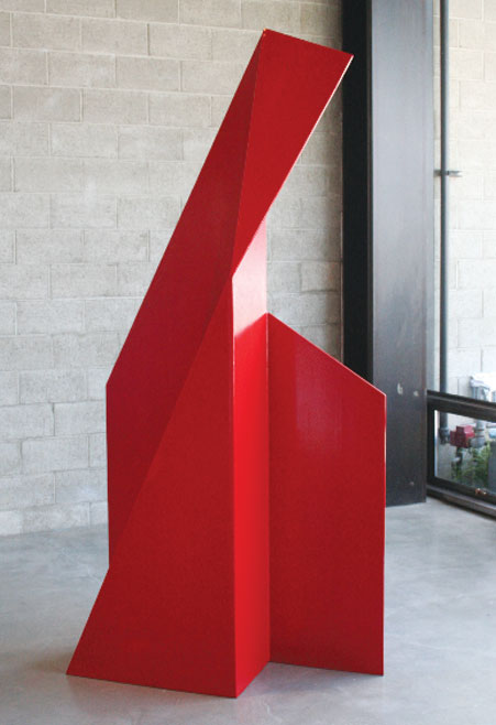 "Majestad V,  2009 Betty Gold Steel and paint 96"" x 48"" x 36"" Photo: courtesy of Gebert Gallery"