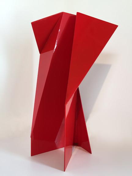 Soller II , ca. 2010 Powder coated steel sculpture 24 × 13 × 9 in 61 × 33 × 22.9 cm