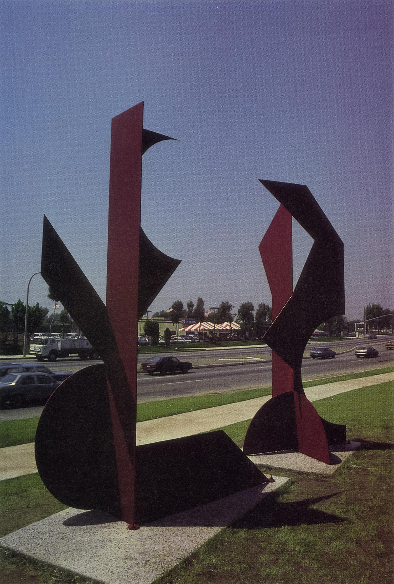 Brea Tech Center, Brea, California; 1987.  Kaikoo IV and XVI.  10.5' x 4' x 4.5'