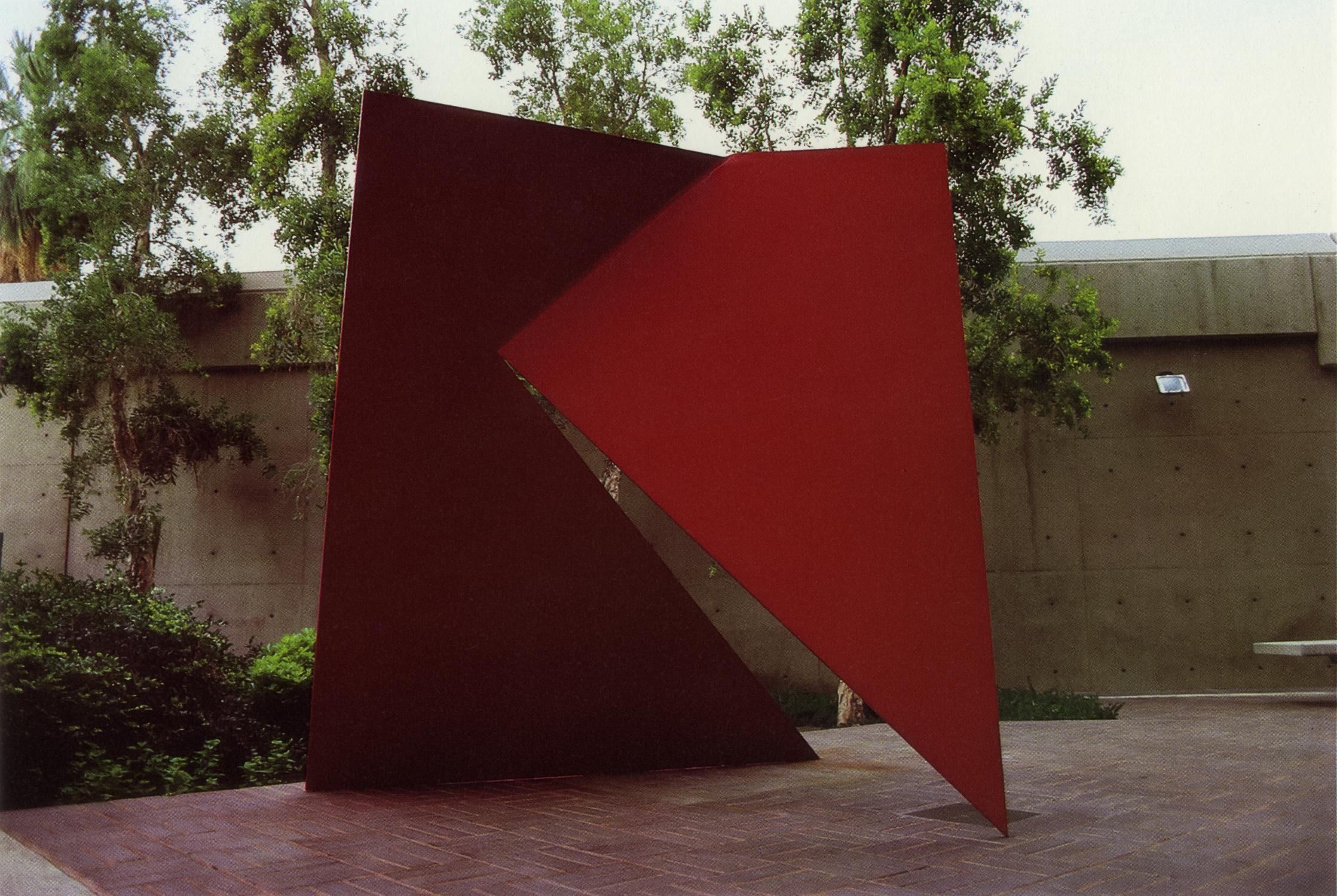 Palm Springs Desert Museum, Palm Springs, California; 1982.  M.H. XIV.  8.5' x 8' x 8'.