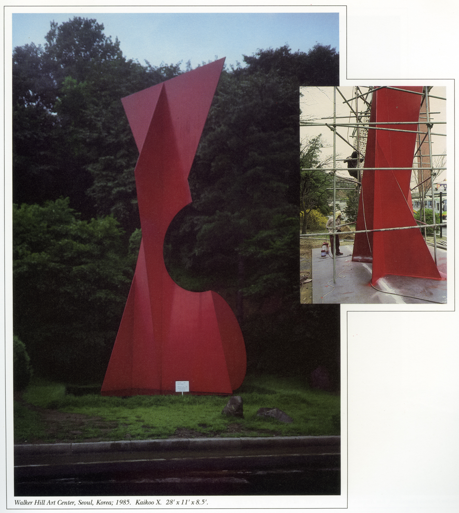 Walker Hill Art Center, Seoul, South Korea; 1985.  Kaikoo X.  28' x 11' x 8.5'.