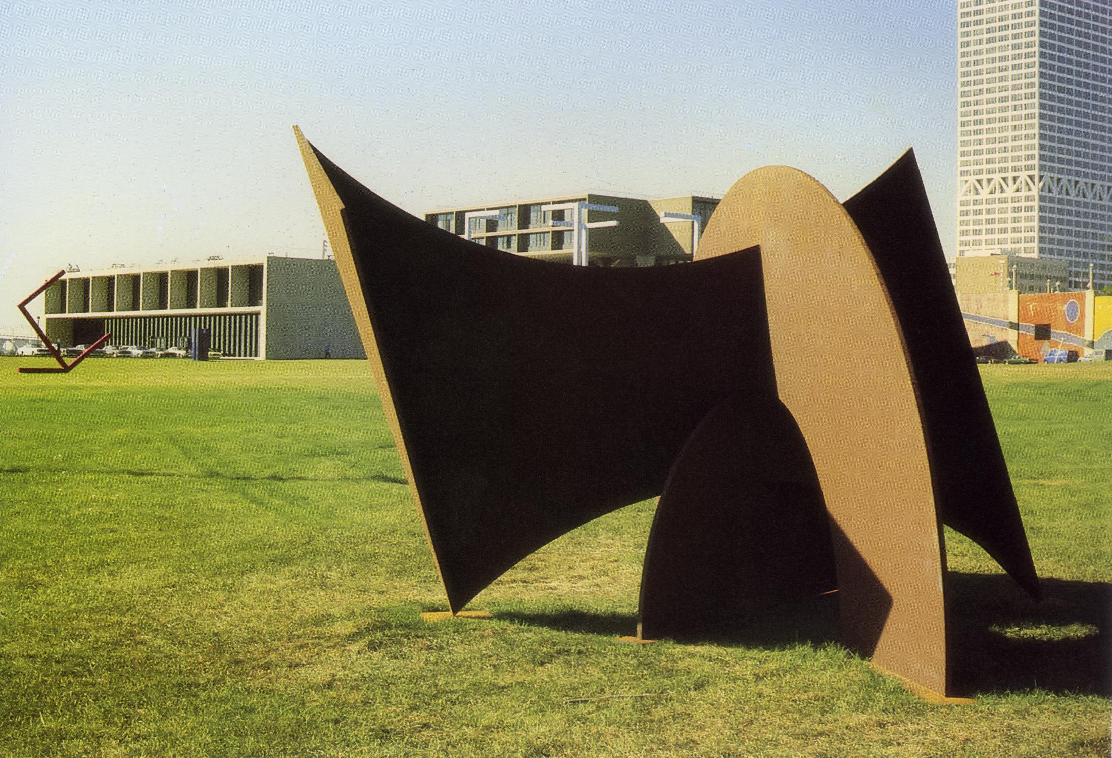 Milwaukee Art Museum, Milwaukee, Wisconsin; 1979.  M.H. III.  9' x 16' x 12'.