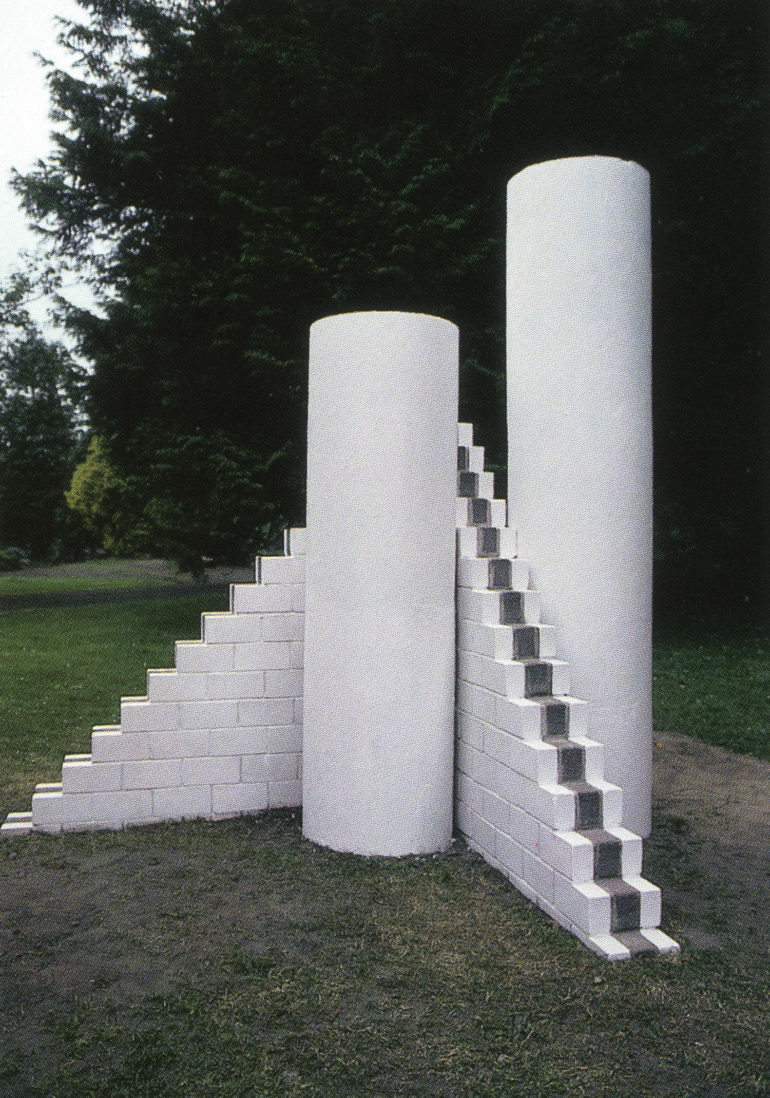 Fitzgeralds Park, Cork, Ireland; 1994.  Cuis Na Laoi.  8' x 6' x 7'.