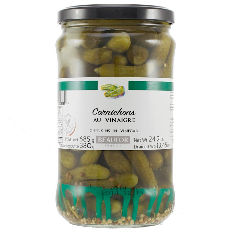 GHERKINS IN VINEGAR, 685g