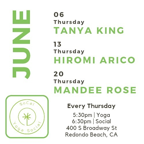 Heading in to June with these babes! 🔥🔥🔥 @tanyakingyoga @yogahime @mandeeroseartist • Join us....you won't regret it! Yoga followed by Social (potluck) 🌱 All levels ~ All welcome • #yoga #donationyoga #freeyoga #socalyogasocial #redondobeach #southbay #womansclubofredondobeach #redondobeachyoga #southbayyoga #newteachers